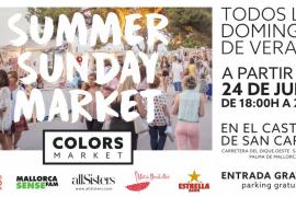 El Castell de Sant Carles se llena de color con el Summer Sunday Market