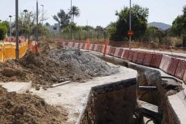 Abaqua prevé abrir hoy el carril cerrado en Cala de Bou tras seis semanas de obras