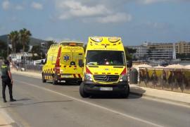En estado crítico una bañista rescatada semiahogada en la playa de es Pouet