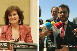 Los vicepresidentes del Gobierno central y catalán se reúnen el jueves en Madrid
