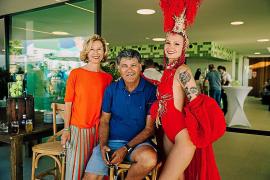 Heidi Stadler, Toni Nadal y Lucy.