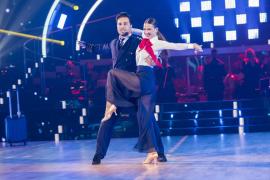 Yana Olina y David Bustamante en el escenario de Bailando con las Estrellas