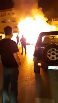Arden varios contenedores en diferentes puntos de Sant Antoni
