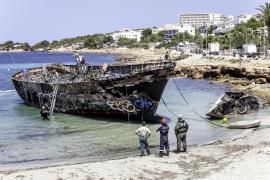 Sant Antoni no garantiza que se pueda retirar hoy el barco de Caló des Moro