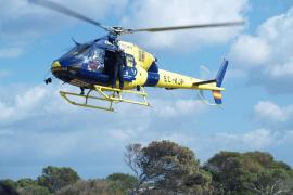 Dos heridos de gravedad en un accidente entre un coche y una moto en Formentera