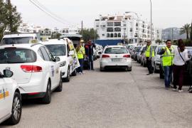 Los taxistas de la isla de Ibiza se suman a la huelga nacional