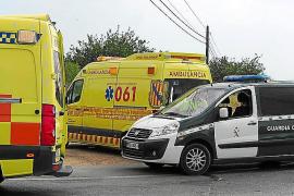 Heridos graves un motorista y un peatón en un accidente en Formentera