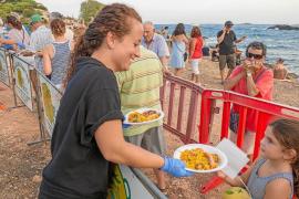Paella para 800 personas en la tradicional 'berenada' de Puig des Molins