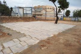 Plaza donde se llevará a acabo la fiesta 'pagesa' en Can Burgos