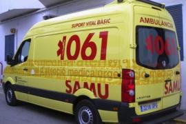 Fallece en el acto un motorista al chocar con dos coches en Formentera
