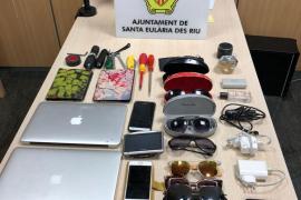 Detienen a un hombre con objetos robados por valor de miles de euros en Santa Eulària