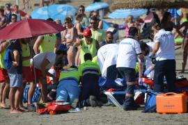 Dos turistas ahogados, en menos de 24 horas, en la Platja de Palma
