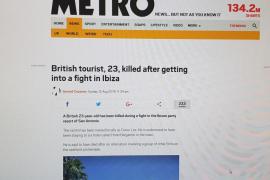 'Cires' califica de «hechos puntuales» la muerte violenta de dos turistas británicos este verano