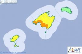 Las Pitiusas están hoy en riesgo por lluvias y tormentas