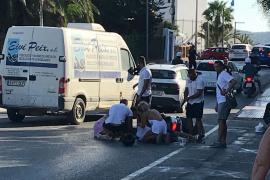 Un accidente entre dos motocicletas en Sant Antoni deja un herido grave y dos leves