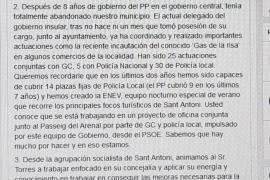El West End aumenta la tensión en el tripartito de Sant Antoni y el PSOE acusa a Joan Torres de «demagoia y oportunismo»