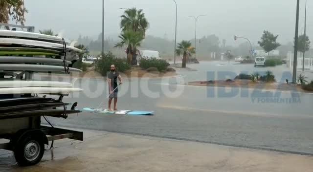 Vídeo   El lado positivo del temporal de lluvia en Ibiza