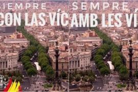 Moncloa corrige un tuit de Pedro Sánchez en catalán por el 17A que eliminaba la bandera de España