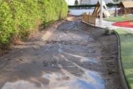 EPIC denuncia el mal estado del parque de Can Misses tras las lluvias del viernes