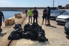 La cocaína incautada en aguas de Ibiza tiene un valor de 18 millones de euros