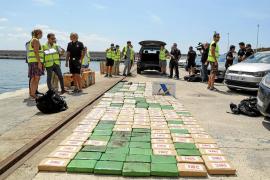 El yate transportaba 300 kilos de cocaína