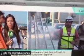 Una reportera de televisión sufre el machismo en directo