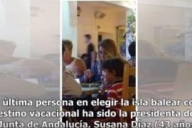 Susana Díaz, de vacaciones en Ibiza