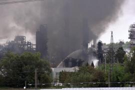 Incendio en una refinería en Alemania