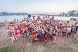 Tablas entre cartagineses y romanos sobre la arena de la bahía de Portmany