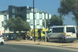 Herido un motorista de 51 años tras chocar contra un coche en Vila