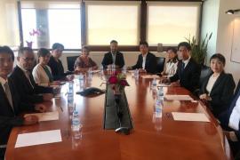 Recepción de Vila a una delegación japonesa