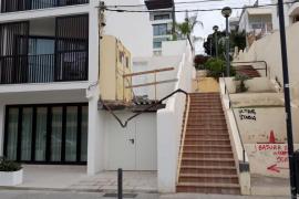 EPIC alerta que el mal estado de la calle Josep Picarol de Ibiza entraña riesgos para los viandantes