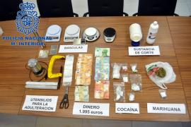 La Policía Nacional desmantela un punto de venta de cocaína y marihuana en Ibiza