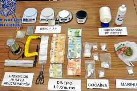 La Policía Nacional desmantela un punto de venta de cocaína y heroína en Ibiza