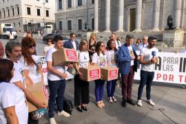 Las familias de Vanesa Patricio y Dani Viñals entregan más de 280.000 firmas en el Congreso