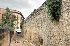 Derrumbe de la muralla de Alcúdia