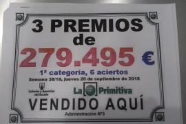 Una Administración de Lotería de Vila reparte 838.000 euros a tres premiados de la misma familia