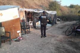 Vila desmantela nueve asentamientos de sa Joveria y retira 147 tonelades de residuos