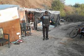 Vila desmantela nueve asentamientos de sa Joveria tras un verano caliente