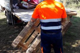 La Policía Local interpone cinco denuncias por acampada ilegal en un parking en ses Figueretes