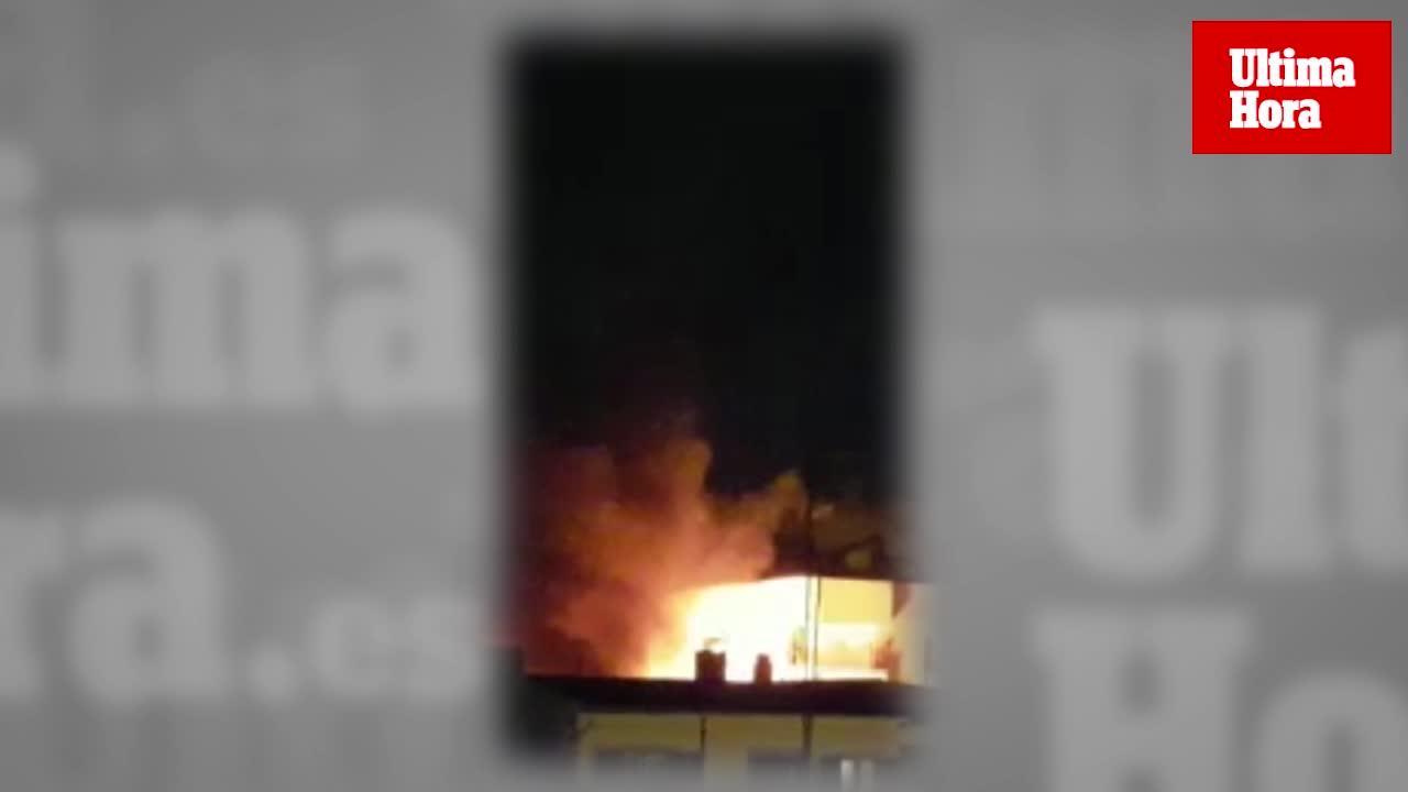 Arden nuevos contenedores de madrugada en Palma