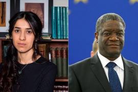 El cirujano congoleño Denis Mukwege y la yazidí Nadia Murad, premio Nobel de la Paz