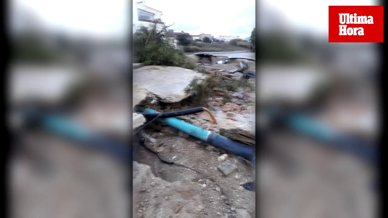 La tormenta causa graves daños en Son Carrió