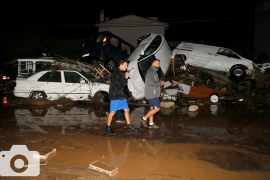 Una virulenta tormenta destroza Sant Llorenç