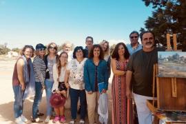 Dibujando los paisajes de Formentera con uno de los más grandes