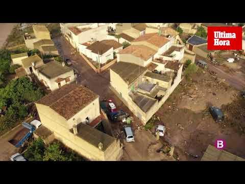 Los devastadores efectos de la tormenta mortal en Mallorca, vistos desde el aire