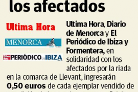 Ultima Hora, Es Diari y El Periódico de Ibiza y Formentera, solidaridad con los afectados