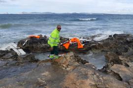 El temporal golpea a cuatro embarcaciones en Formentera