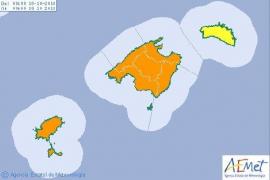 Alerta naranja por tormentas en las Pitiusas a partir del jueves por la tarde