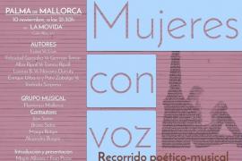 La Movida acoge el recorrido poético-musical de 'Mujeres con voz'
